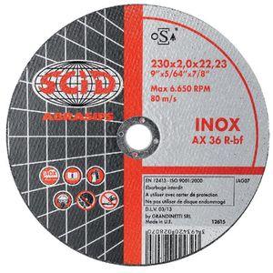 ACCESSOIRE MACHINE Disque à tronçonner l'inox SCID Moyeu déporté Ø125