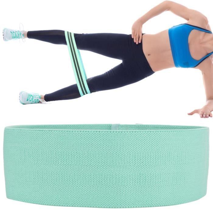 Bandes de résistance de remise en forme Hip Squat Exercice Boucle Workout Gym Équipement pour Hommes Femmes(vert)