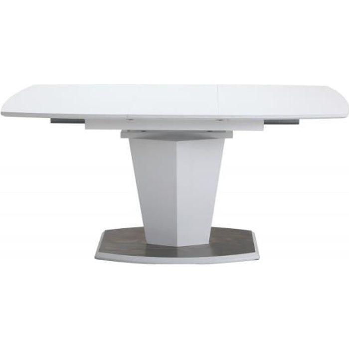 Table de repas extensible 120/160 cm rectangulaire - DONA