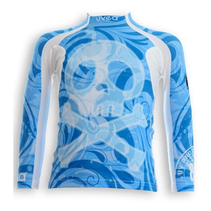 UVEA Teeshirt rashguard anti UV 80+ maillot manches longues INDIANA - Taille 2/4 ans - Imprimé booo