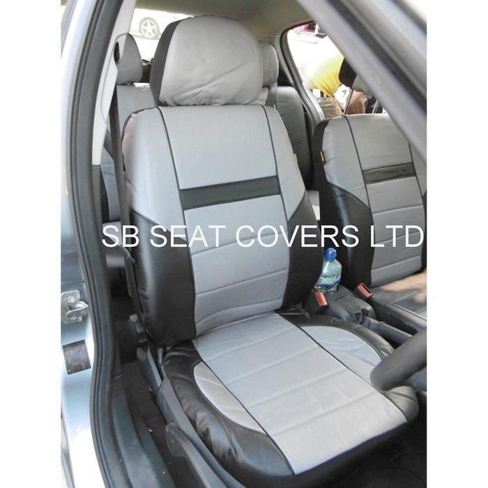 Adapté à BMW 5 Series - 7 Series voiture, Housses de siège Similicuir Prestige Gris