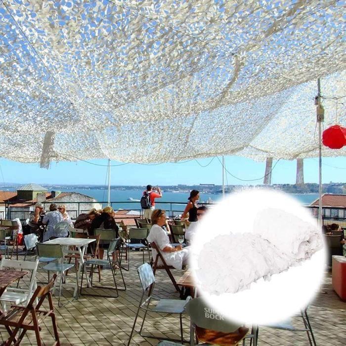 Filet d'ombrage 2X3m 4X6m 6X8m 8X10m 10X15m Camo Netting Sun Shelter, Filet de Camouflage Blanc 210D utilisé pour Les Jeux Milita121