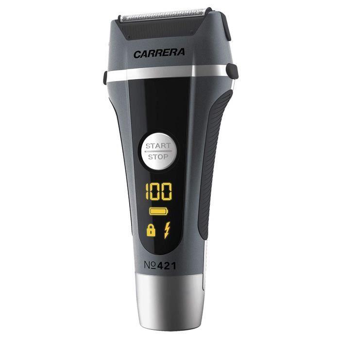 CARRERA - 15113011-421 Rasoir Électrique avec Tondeuse Intégrée pour Dessiner les Contours de Barbe