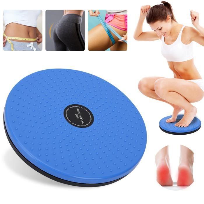 Planche de disque de torsion à taille torsadée Aérobic Exercice Aérobic Réflexologie Aimants fitness(Bleu)
