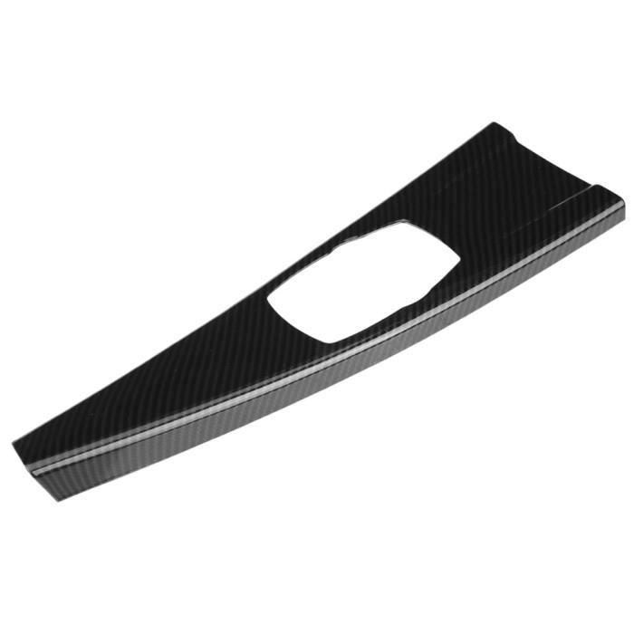 Pièces Auto,Couverture de panneau en Fiber de carbone, garniture de panneau multimédia d'intérieur, design radian, pour BMW 3 F30