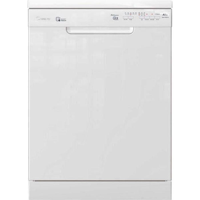 Lave-vaisselle pose libre connecté CANDY CDPN2L350SW - 13 couverts - Largeur 60 cm - Classe A ++ - 46 dB - Blanc