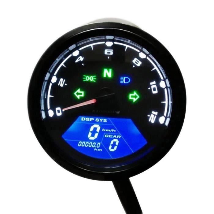 COMPTEUR DE VITESSE NUMÉRIQUE 12000RPM Tachymère de kit d'affichage de la vitesse au pare-brise aide a la conduite - securite