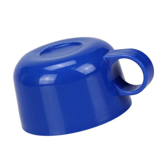 1x Tasse Enfant En Plastique Tasse Couvercle Accessoires de Cuisine pour Enfants Bleu foncé