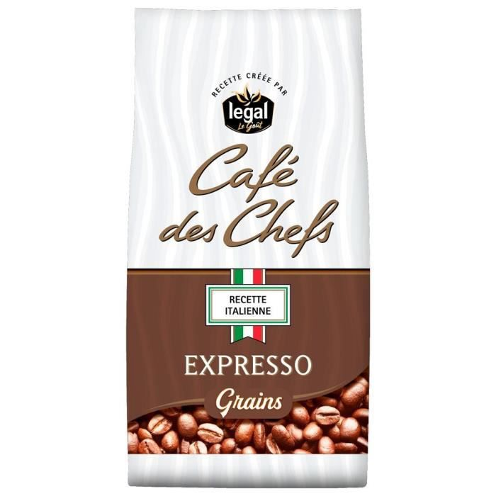 LEGAL Cafés des Chefs Expresso Recette Italienne Grains - 500 g