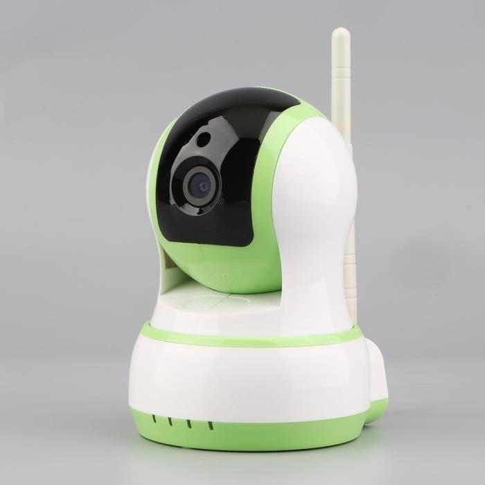 Caméra IP de sécurité de surveillance sans fil Wi-Fi DC5V - 2A domestique(vert)
