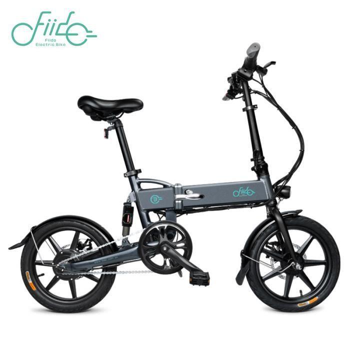 Velo Assistance Electrique 16- roue FIIDO D2 Vélo électrique Ebike-250W-25 km/h LCD Intelligent pliable Cyclomoteur pliant E-Scooter