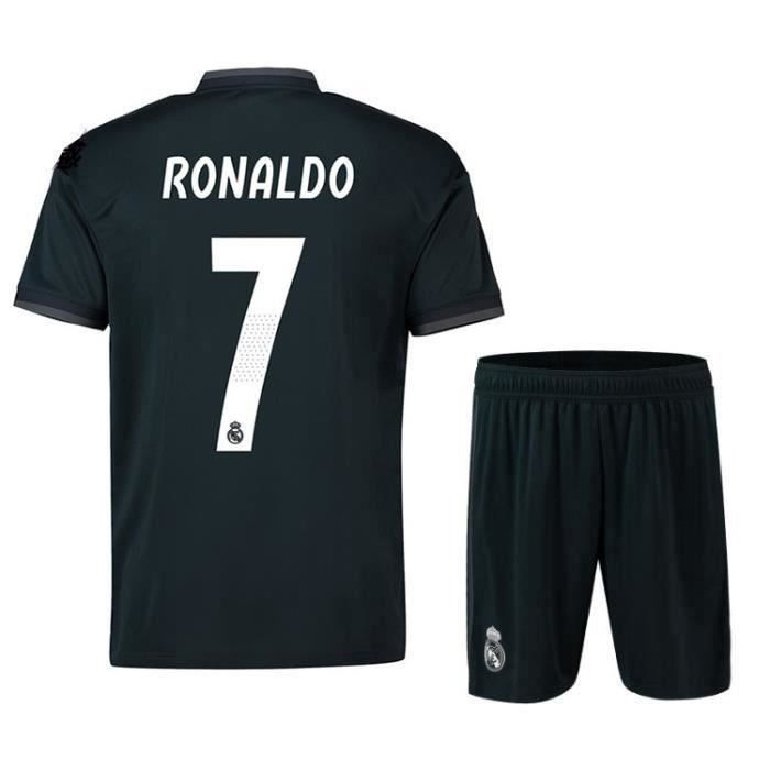 Nouveau Real Madrid NO.7 Cristiano Ronaldo Maillot et Shorts de football Enfant