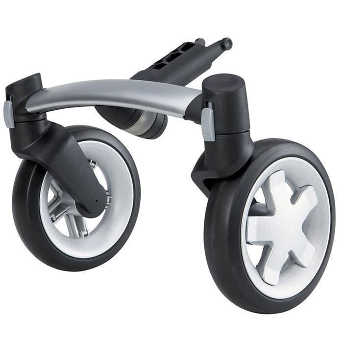Quinny kit roues avant noires.