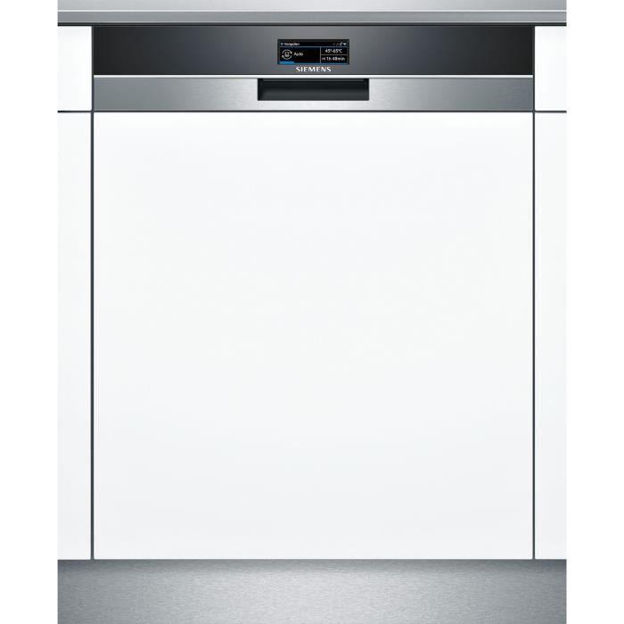 siemens - lave-vaisselle 60cm 13 couverts a+++ zéolite intégrable avec bandeau apparent inox - sn578s36ue