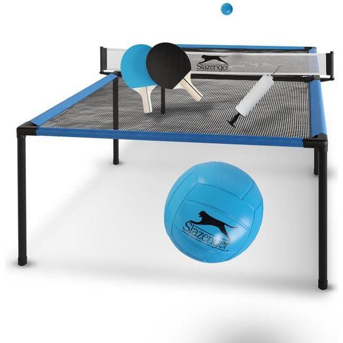 Table de tennis de table Slazenger - Table de Ping Pong - Légère et compacte - 240 x 120 x 63,5 cm