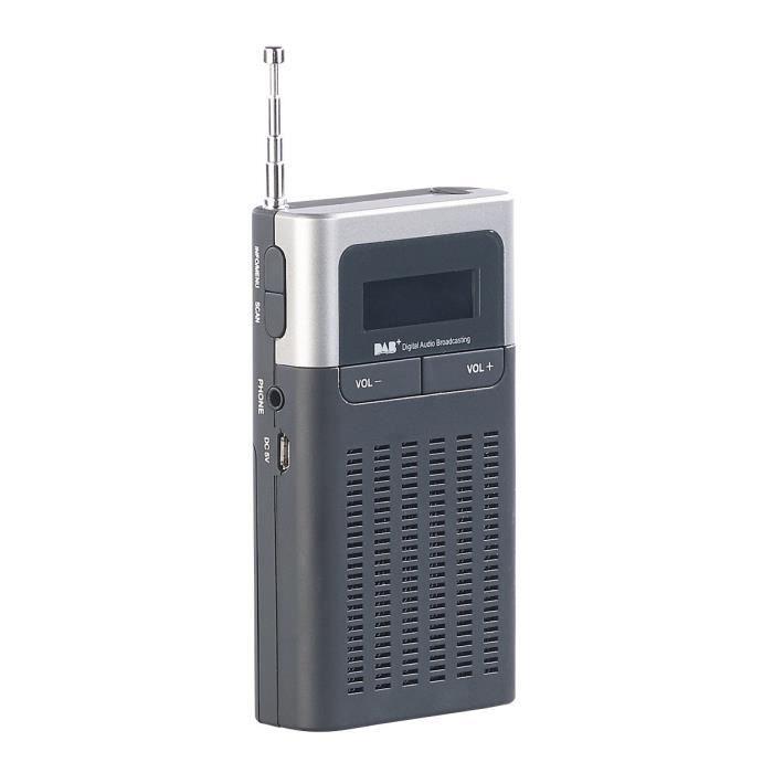 Radio de poche numérique DAB+/FM avec réveil DOR-230