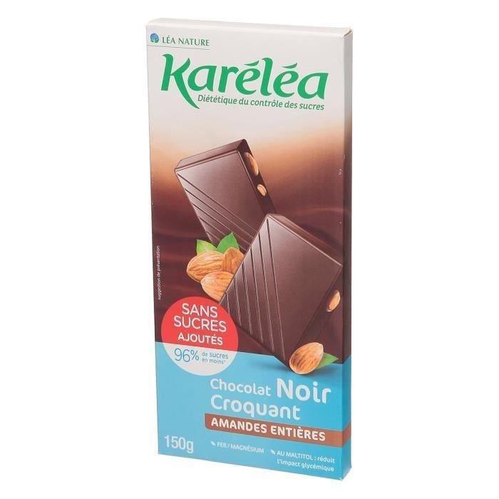 KARELEA Chocolat Noir Amande Entière - 150 g
