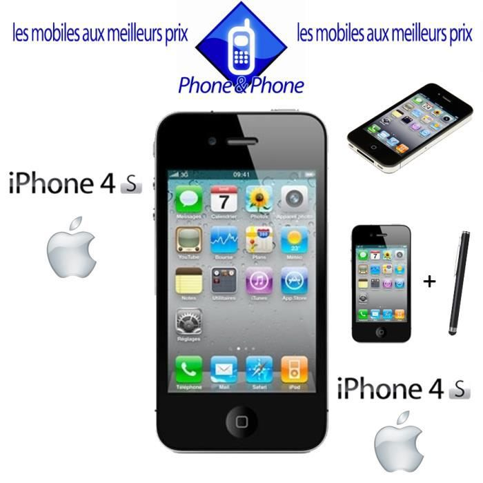 apple iphone 4s 16go debloque bon etat stylet achat vente smartphone apple iphone 4s. Black Bedroom Furniture Sets. Home Design Ideas