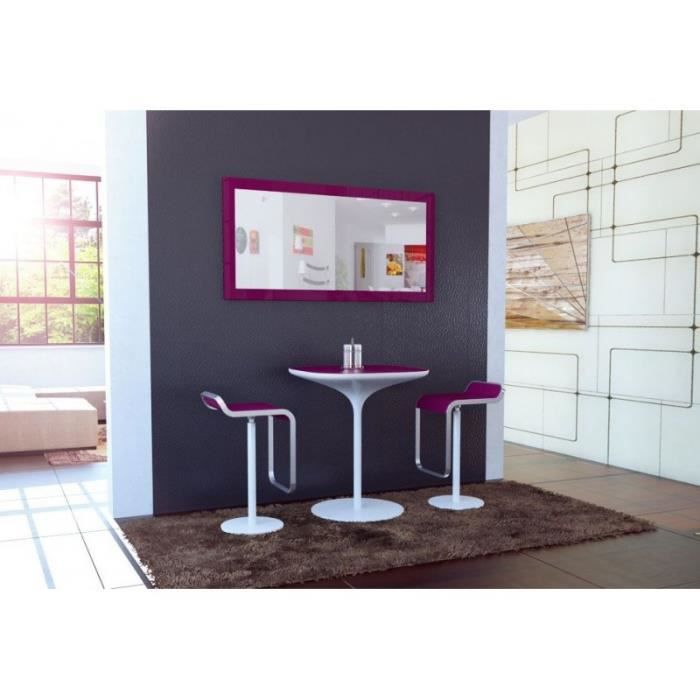miroir laqu violet 110 cm achat vente miroir cdiscount. Black Bedroom Furniture Sets. Home Design Ideas