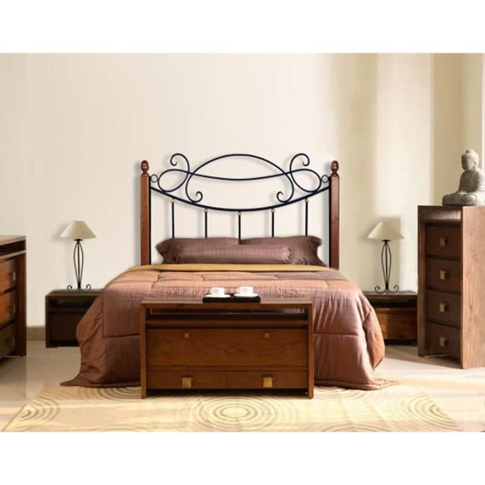 t te de lit en fer forg et bois mod le aries achat vente t te de lit t te de lit en fer. Black Bedroom Furniture Sets. Home Design Ideas