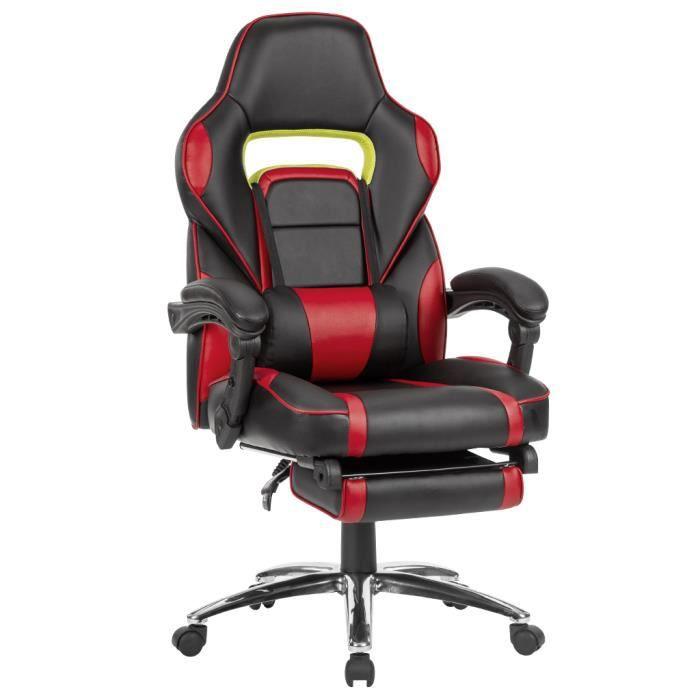CHAISE DE BUREAU LANGRIA Chaise de Bureau Racing Style Inclinable E