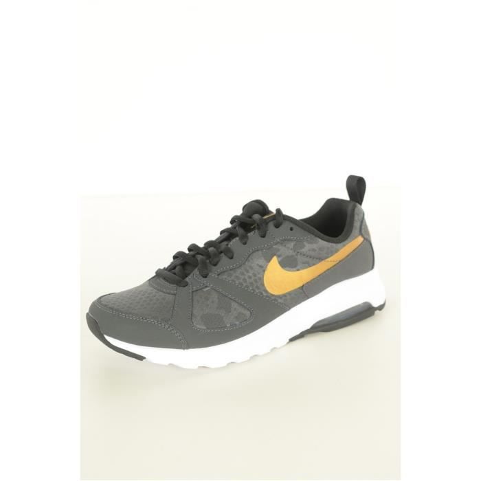 pretty nice 87691 63420 ... baskets cuir air max muse nike noir femme
