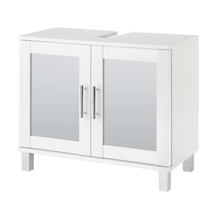 Sous lavabo swithome bern blanc achat vente meuble for Meuble sous lavabo fly
