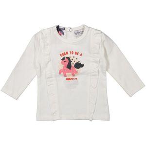 T-SHIRT DIRKJE T-shirt Licorne Blanc Avec une Licorne Rose
