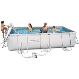 PISCINE BESTWAY Power Steel Frame Piscine rectangulaire tu