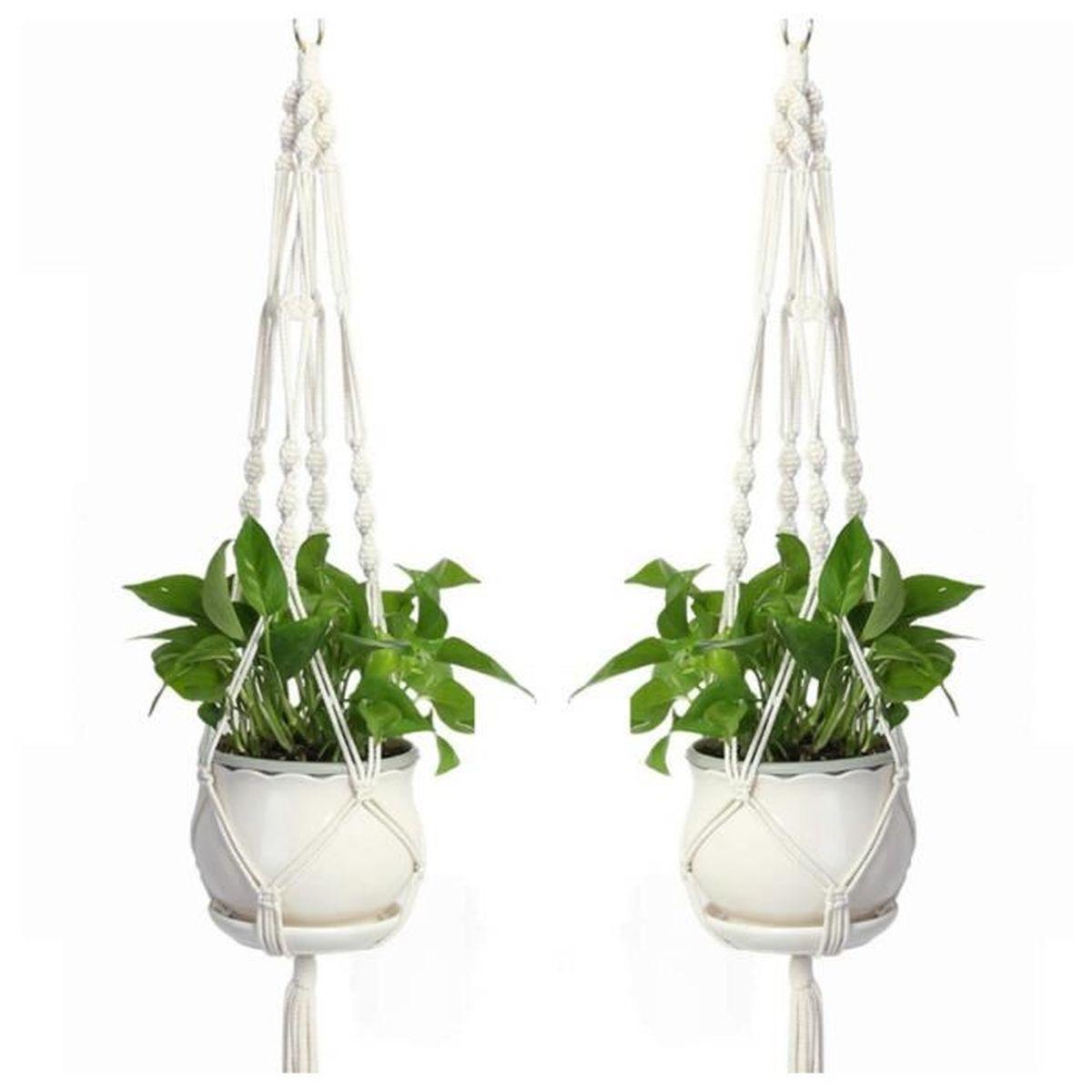 Suspension Pour Plantes D Intérieur 2pcs suspension macramé plante pour suspendre pot de fleur