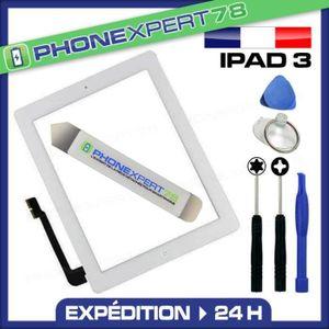 ECRAN DE TÉLÉPHONE Écran vitre tactile complète iPad 3 blanc + outils