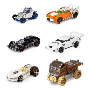 VOITURE - CAMION Hot Wheels Star Wars Character Cars (6 Pack) 40th