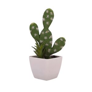 JARDINIÈRE - BAC A FLEUR Art Simulé Green Plant artificiel Cactus Flower po