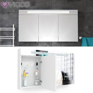 ARMOIRE DE TOILETTE VICCO 3D LED Miroir Cabinet blanc salle de bains a