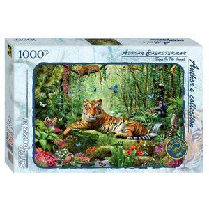 PUZZLE Puzzle 1000 pièces Tigre dans la jungle