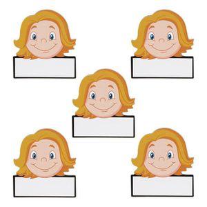AIMANTS - MAGNETS 5 Nom aimants femmes - Réinscriptible - 5,5 x 5 cm