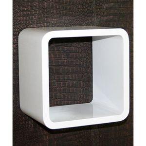 CASIER POUR MEUBLE Étagère cube murale Blanc