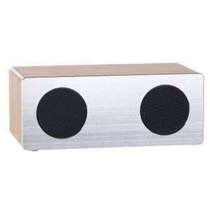 ENCEINTE NOMADE Enceinte stéréo 20 W design bois / alu à fonction