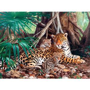 PUZZLE Puzzle 3000 pièces - Jaguars dans la forêt