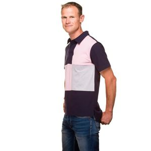 POLO UGHOLIN Polo Rugby Homme Jersey Coton Tricolore Ma