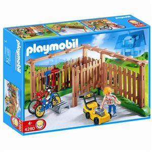 UNIVERS MINIATURE Playmobil Abri pour vélos et outils de jardinage
