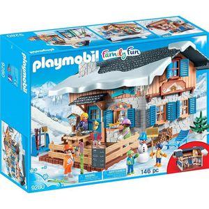 UNIVERS MINIATURE PLAYMOBIL 9280 - Family Fun Les Sports d'hiver - C