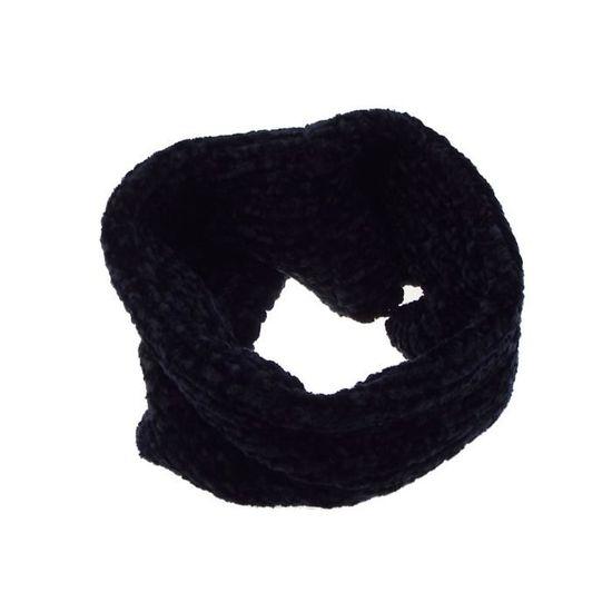 Hiver Femmes Luxe Super Doux Chenille Tissu Tricoté écharpe avec Pompons