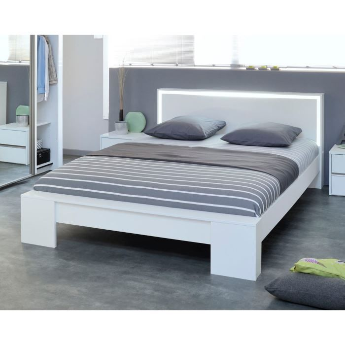 lits 180cm achat vente lits 180cm pas cher cdiscount. Black Bedroom Furniture Sets. Home Design Ideas