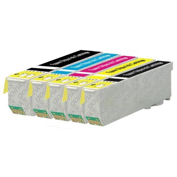 1 Go Inks Ensemble de 5 Cartouches d'encre à remplacer Epson T3357 (33Xl Series) Compatible / non Oem pour Epson Expression Premium