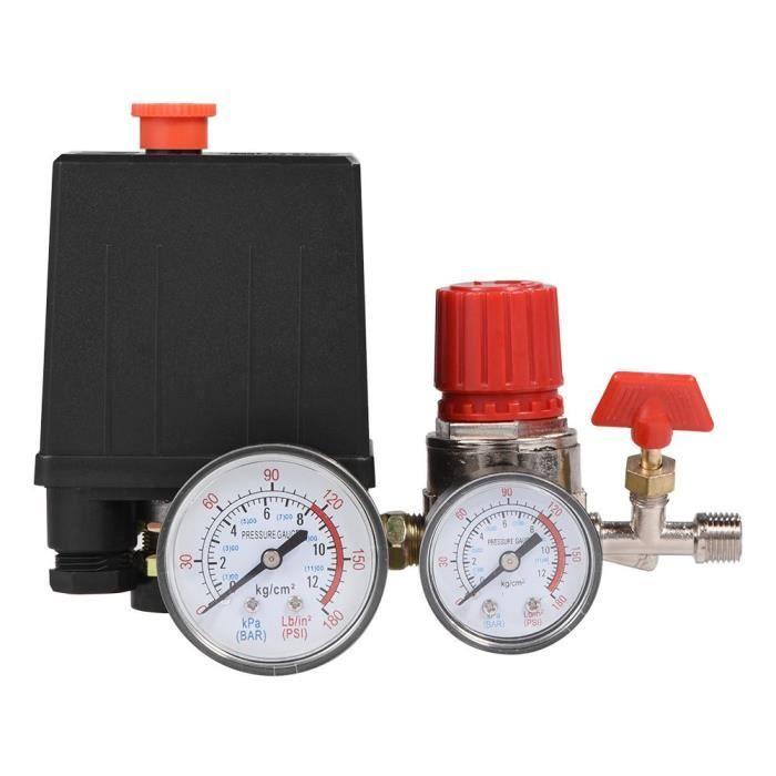 Petit régulateur de soupape de commande de commutateur de pression de compresseur d'air avec des manomètres-OHL