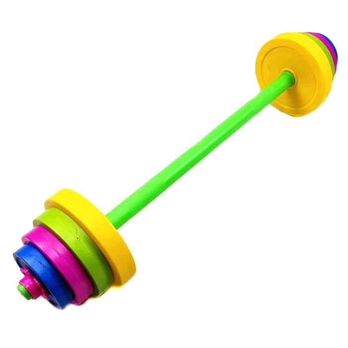 1 Set - 11 pcs Pratique Enfants Barbell Bodybuilding Exercice Équipement Formation Bras Muscle Fitness pour Enfants Gym Maison (Ty