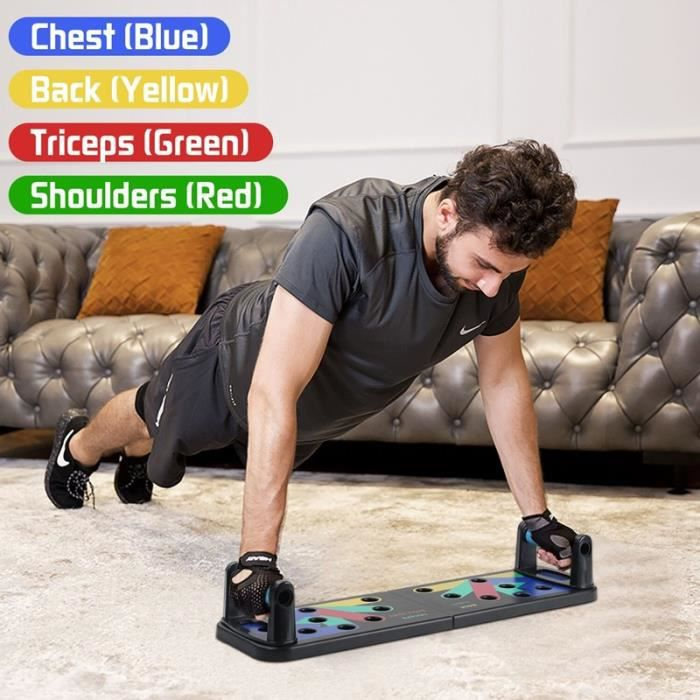 9 in 1 Push Up Rack Board Foldable Muscle Exercise Body Building Adjustable Push-up Stands Comprehensive Fitness Equipment