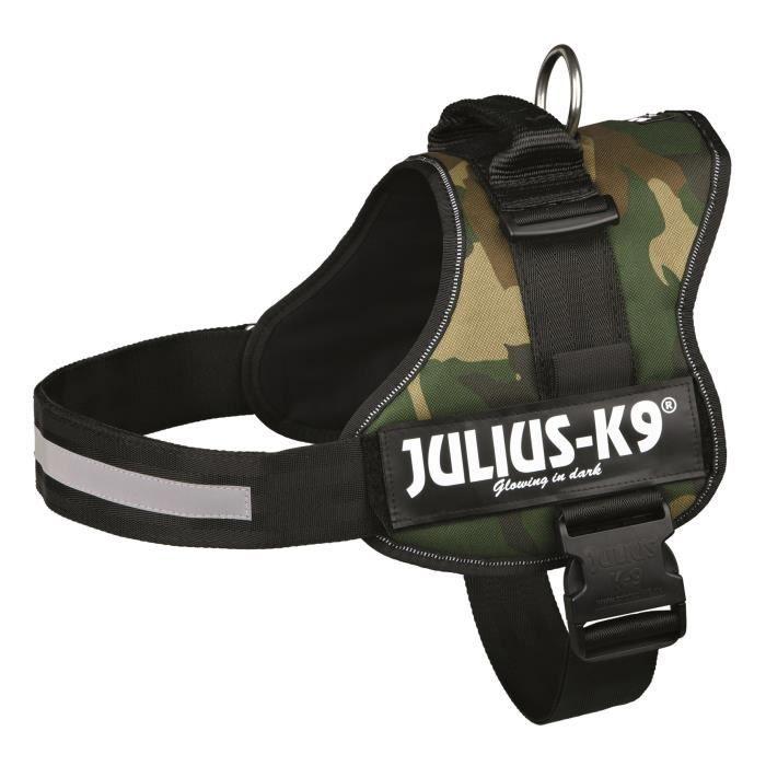Harnais Power Julius-K9 - 3 - XL : 82-118 cm-50 mm - Camouflage - Pour chien