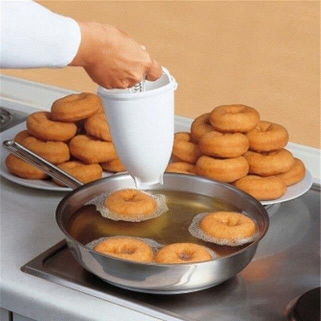 L656 Plastique beignet fabricant Machine moule bricolage outil cuisine pâtisserie fabrication ustensiles de cuisson cuisine Gadget